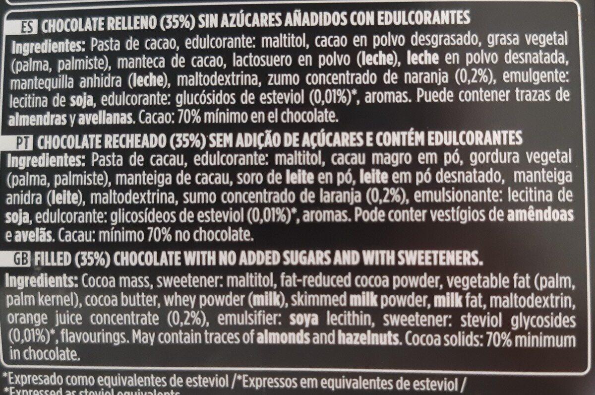 Chocolate negro mousse de naranja - Ingrédients - fr