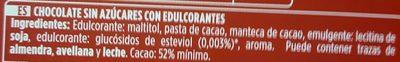 Xocolata Pur Valor Sense Sucre - Ingrédients - es