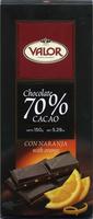 Chocolate negro 70% cacao con naranja - Product