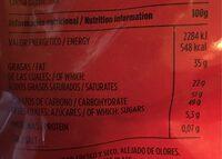 Chocolates valor - Informació nutricional - es