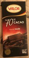 Valor, dark chocolate, 70% cocoa, chocolat noir - Product - en