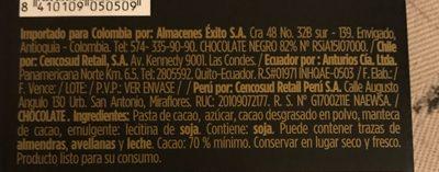 Valor, dark chocolate, 70% cocoa, chocolat noir - Ingredients - en