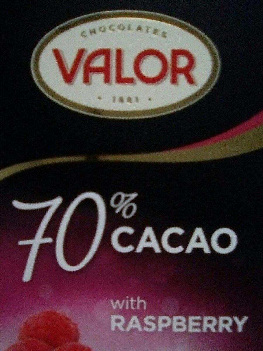 valor chocolate 77% con frambuesa - Product - es