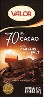 Chocolates 70% Cacao Dark Chocolate with Caramel and Sea Salt - نتاج - fr