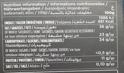 Chocolate negro 70% sugar free - Voedingswaarden - en