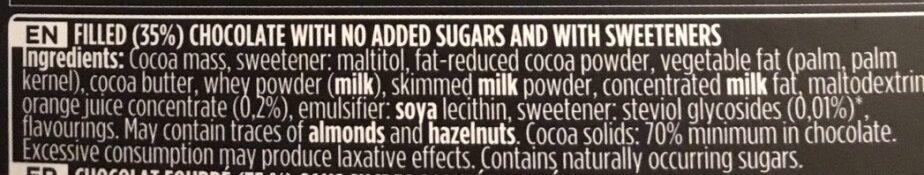 Chocolat - Ingrediënten - en