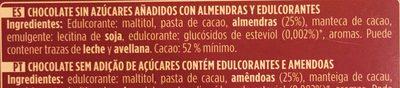 Chocolate con puro almendras mediterraneas enteras - Ingredients