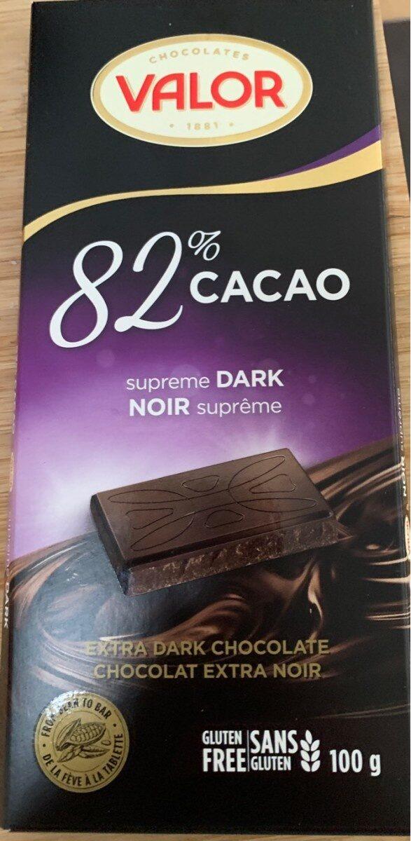 chocolate 82% cacao - Produit - fr
