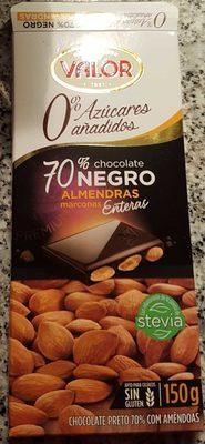 Chocolate negro 70% con almendras - Producto