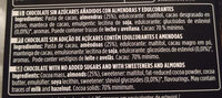 Chocolate negro 70% con almendras - Ingredientes