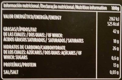 Chocolate negro 70% con almendras - Información nutricional