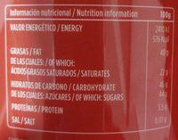 Chocolatissimo Valor - Información nutricional