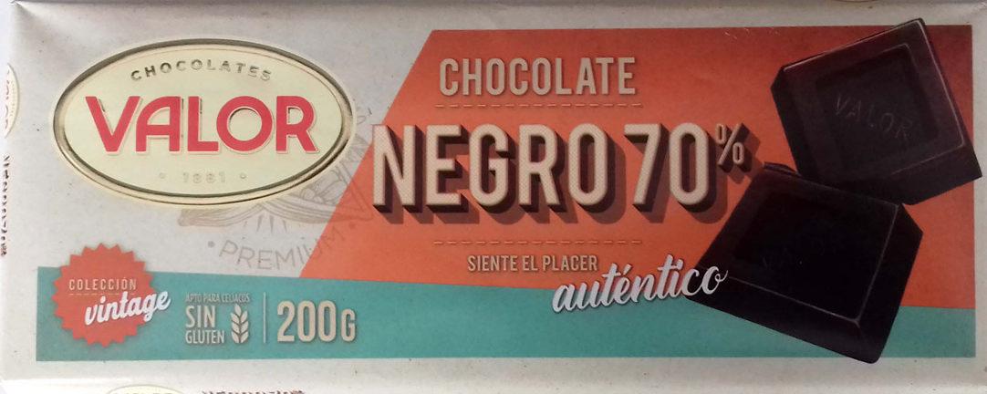 Chocolate negro 70% - Producto