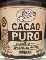 Cacao puro 0% - Продукт - es