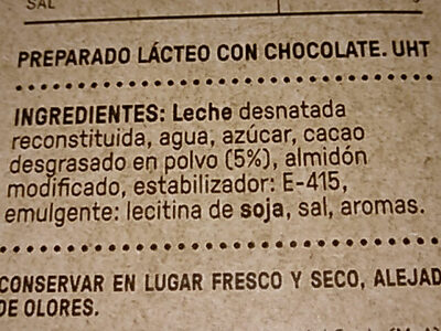 A La TAZA - Ingredientes - es