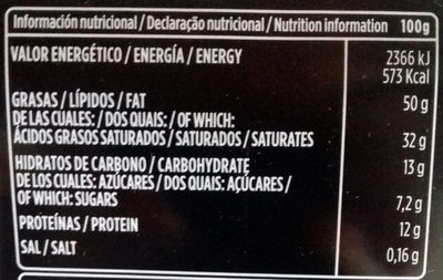 Chocolate negro sin gluten - Nutrition facts