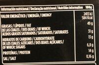 Chocolate negro sin gluten - Informació nutricional - es