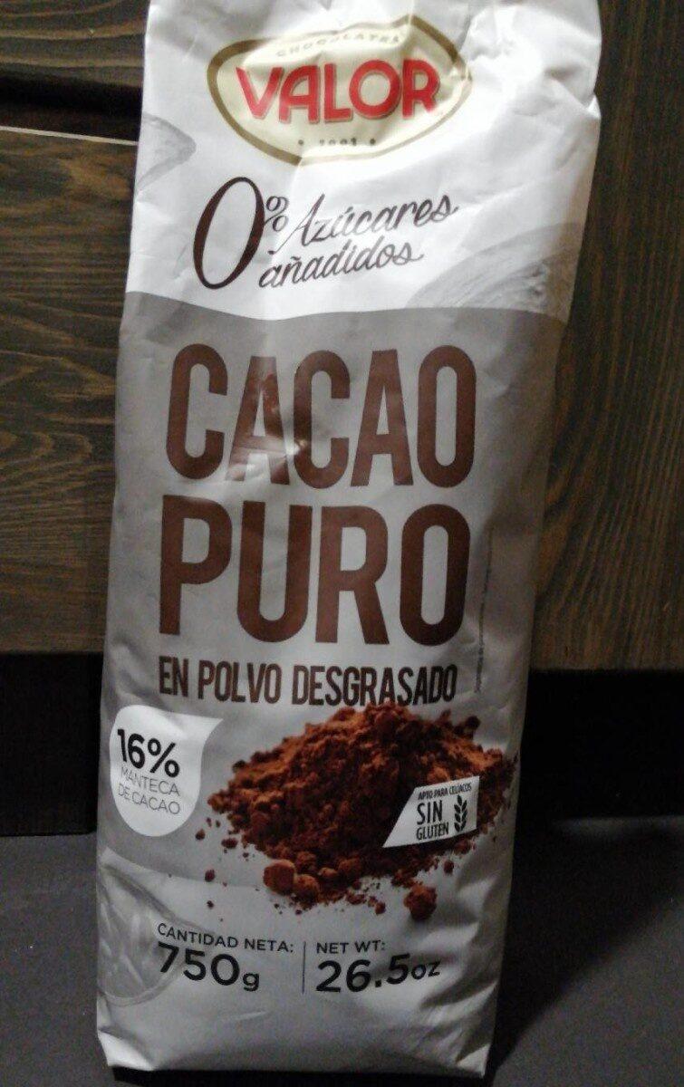 Cacao puro en polvo desgrasado - Product - es