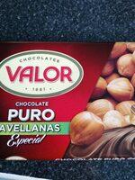 Chocolate puro avellanas valor - Product - es