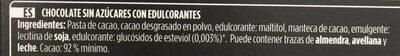 Chocolate negro 92% - Ingrediënten - es