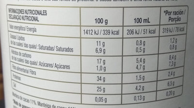 Cacao natural 100% - Voedingswaarden - es