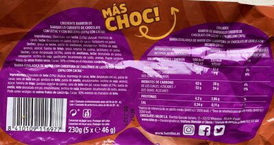 Huesitos superchoc - Informations nutritionnelles - es