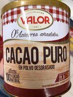 Cacao puro - Ingrediënten - es