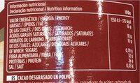 Cacao puro - Voedingswaarden - es