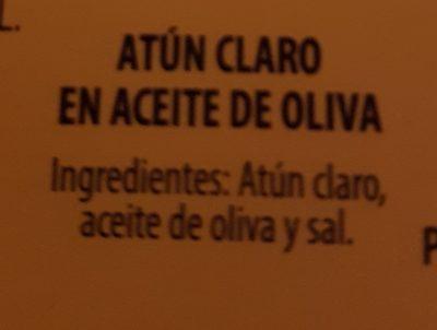 Atún claro en aceite de oliva - Ingrédients