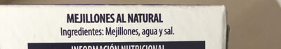 Mejillones al natural - Ingrédients