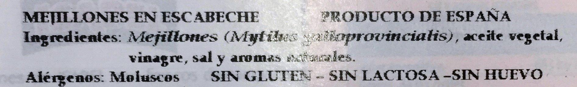 Mussels In Pickle Sauce - Ingredientes - es