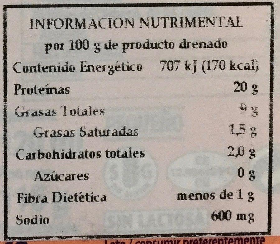 Mussels In Pickle Sauce - Información nutricional - es
