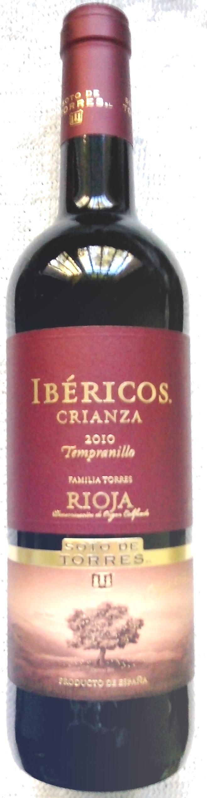 IBÉRICOS CRIANZA 2010 Rioja - Producto