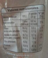 Cacahuetes con chocolate con leche - Nutrition facts - es