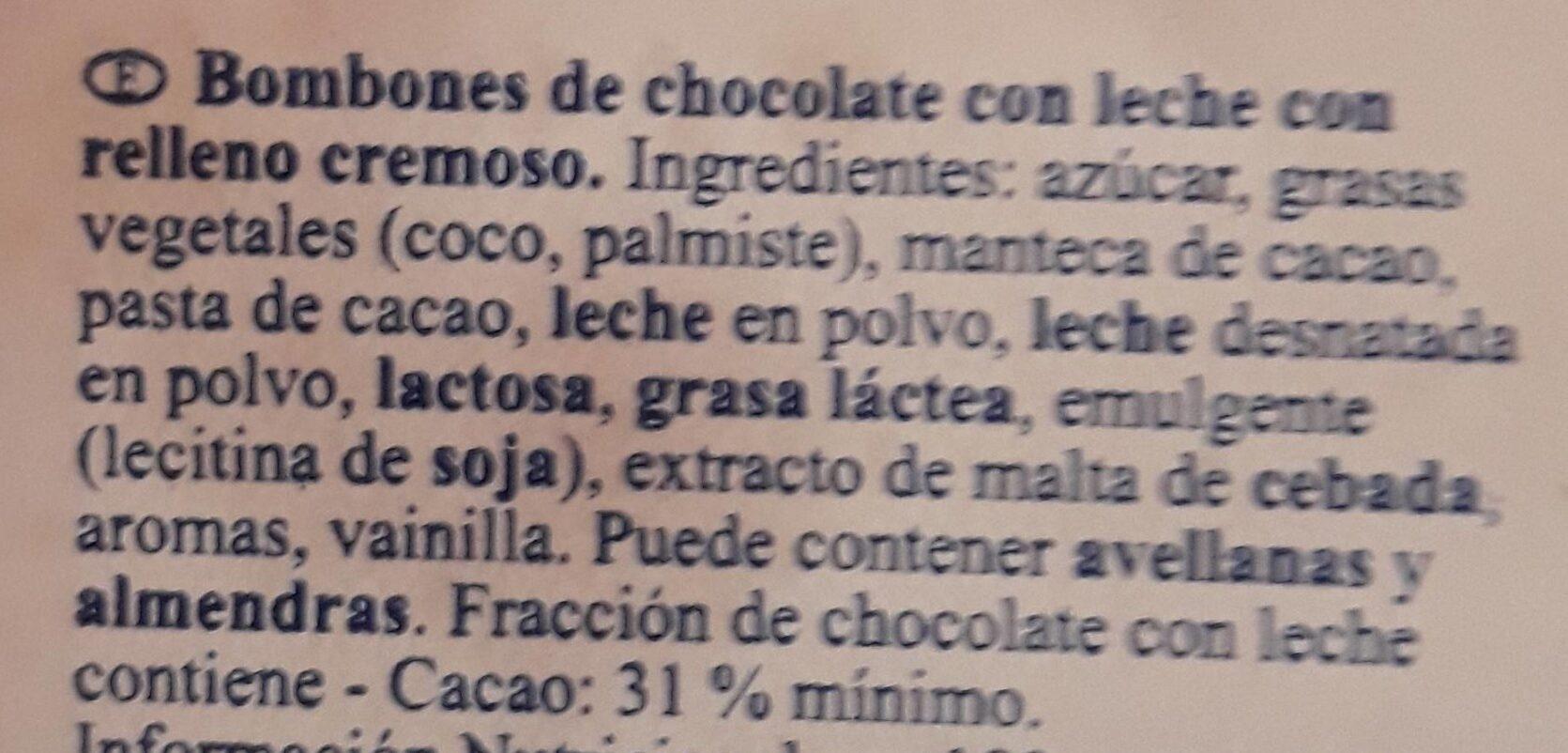 Bombones de chocolate - Ingrédients