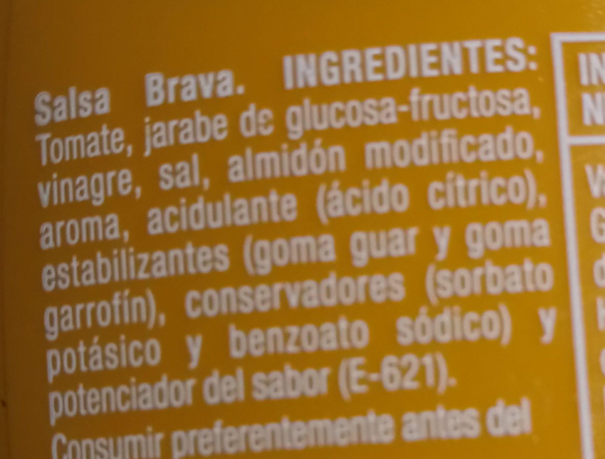 Salsa Brava Sabor Intenso - Ingredients