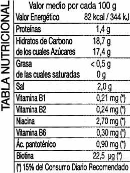 Ketchup clásico - Voedingswaarden - es