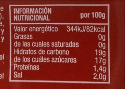 Ketchup  prima sin gluten - Informations nutritionnelles - es