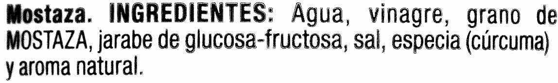 Mostaza - Ingredientes - es