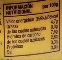 Mostaza prima original - Información nutricional - es