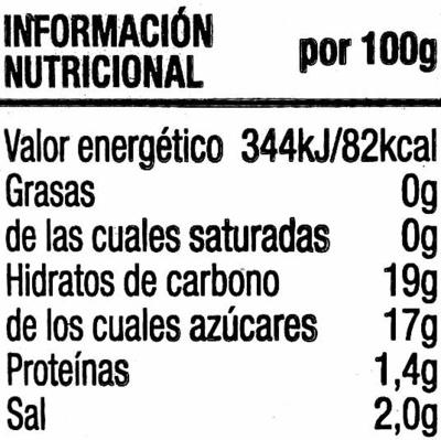 Ketchup sin gluten - Voedingswaarden - es