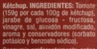 Ketchup sin gluten - Ingrédients