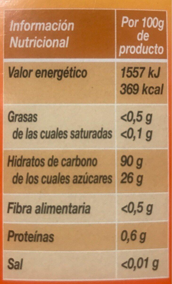 Express harina de maíz especial espesante para salsas y cremas - Información nutricional - fr