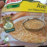 Sopa De Fideus En Sobre Knorr - Produit - fr