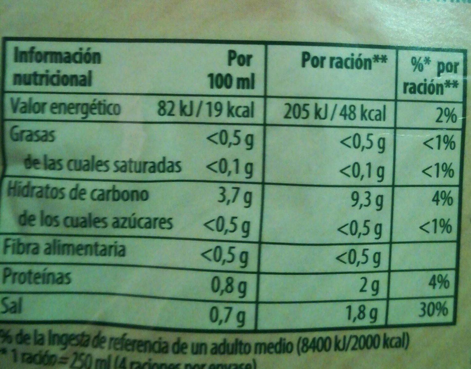 Sopa De Fideus En Sobre Knorr - Informations nutritionnelles - fr