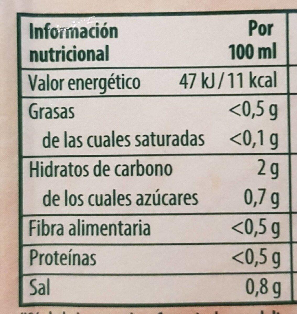 Sopa doce verduras - Informations nutritionnelles - es