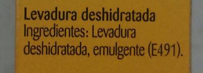 levadura maizena - Ingredients
