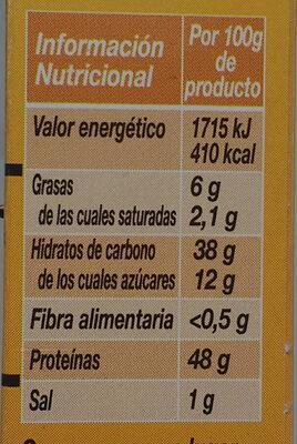 Levadura De Panadería, 27, 5g (5 Sobres) - Información nutricional - es