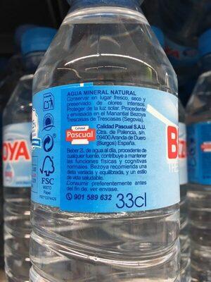 Agua Mineral 33CL - Ingredients - es