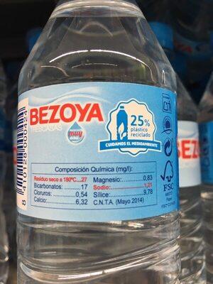 Agua Mineral 33CL - Informació nutricional - es